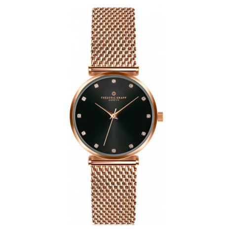 Frederic Graff Batura Star Rose Gold Mesh Watch FCB-3918