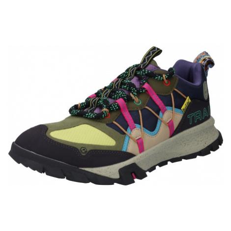 TIMBERLAND Športové šnurovacie topánky 'Garrison'  tmavomodrá / svetložltá / olivová / svetlomod