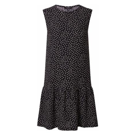 Trendyol Šaty  čierna / biela