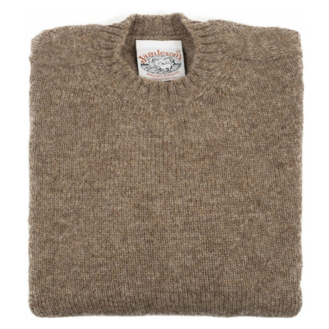Jamieson's Knitwear Hnedý sveter Jamieson's zo shetlandskej vlny