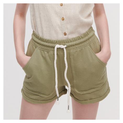 Reserved - Úpletové šortky - Zelená