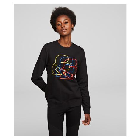Mikina Karl Lagerfeld Multicolor 3D Profile Sweat