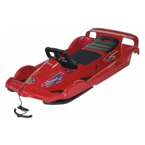Bob plastový AlpenDoubleRace s volantem, červený AlpenGaudi