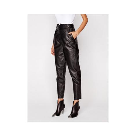 LaMarque Kožené nohavice 6320 Čierna Regular Fit