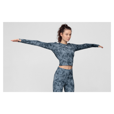 Dámske tričko s dlhým rukávom na jogu 4F