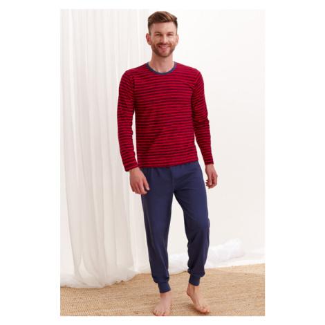 Červeno-modré pásikavé pyžamo Max Taro