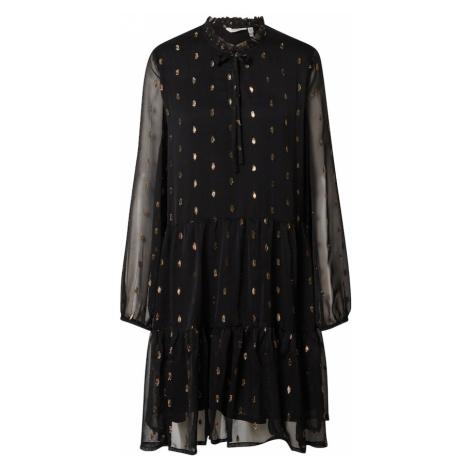 b.young Košeľové šaty  zlatá / čierna