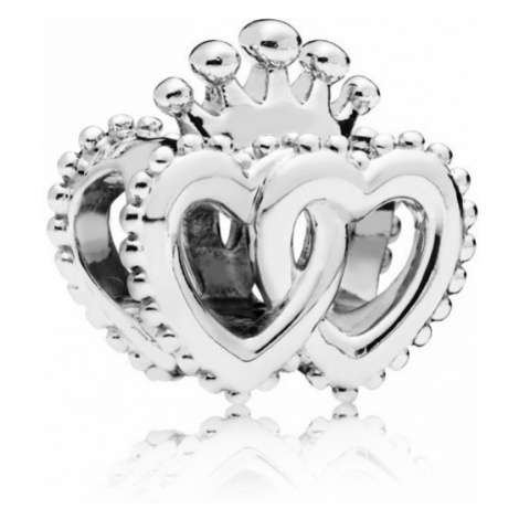 Pandora Strieborný korálik Kráľovská srdce