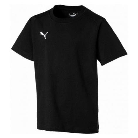 Puma LIGA CASUALS TEE JR čierna - Chlapčenské tričko