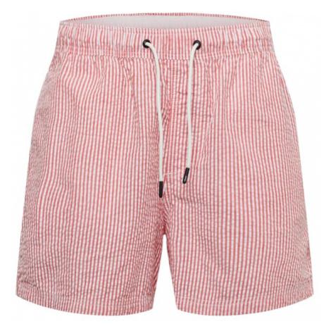 JACK & JONES Plavecké šortky  ružová / biela
