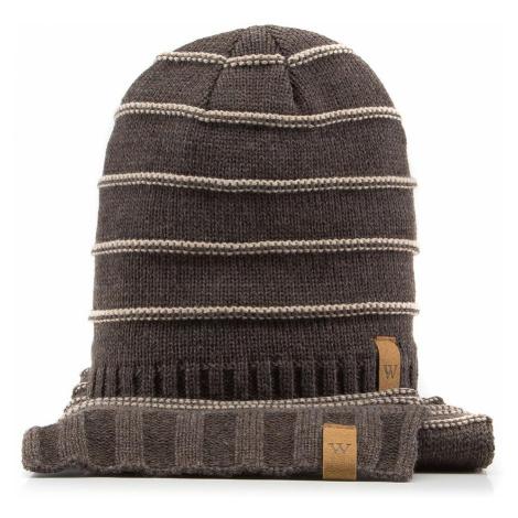 Hnedá pánska čiapka + šál Wittchen