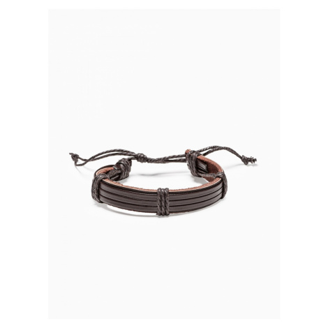 Ombre Clothing Men's bracelet on the strap A206 Brown
