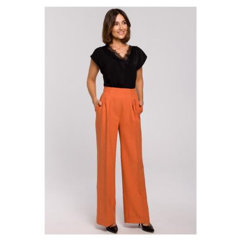 Oranžové nohavice S203