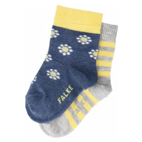 FALKE Ponožky 'Garden Friends'  tmavomodrá / žltá / sivá melírovaná / biela