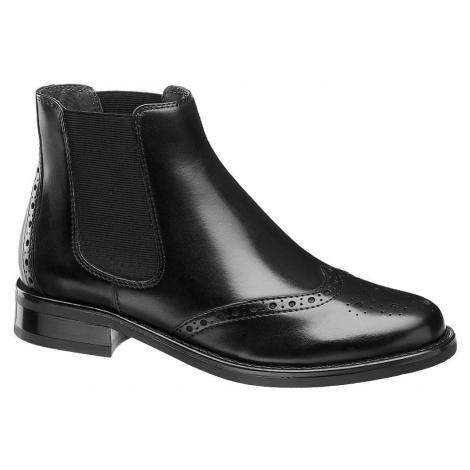 5th Avenue - Čierna kožená Chelsea obuv 5th Avenue