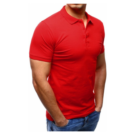 Men's red polo shirt PX0189 DStreet