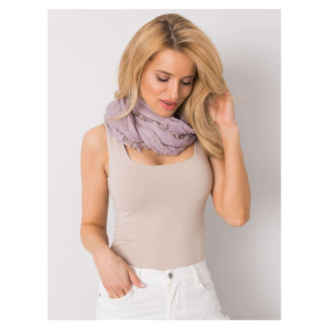 Light purple women's scarf with fringes