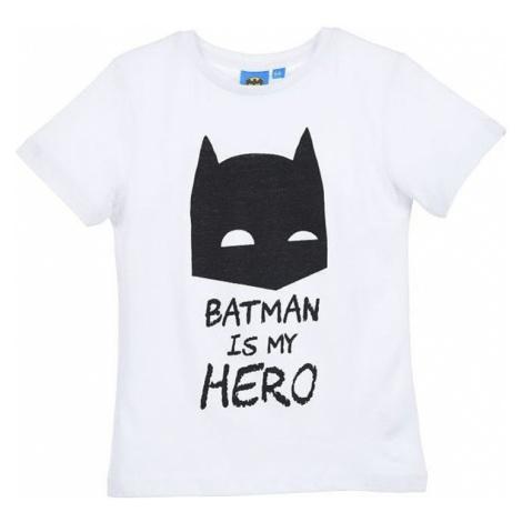 Batman chlapčenské biele tričko batman is my hero
