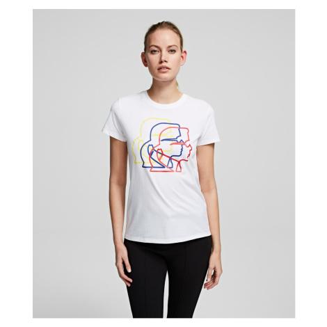 Tričko Karl Lagerfeld Multicolor 3D Karl Profile Tee