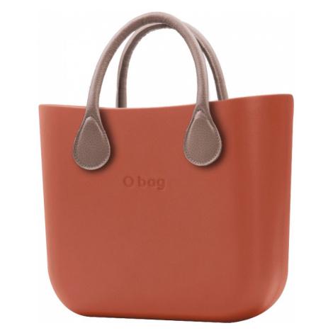 O bag kabelka MINI Terracotta s krátkou koženkou Tortora
