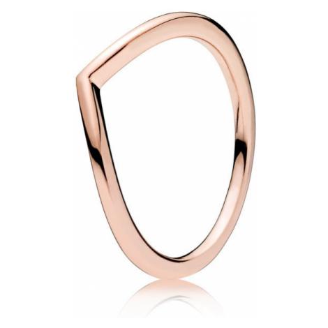 Pandora Minimalistický bronzový prsteň 52 mm