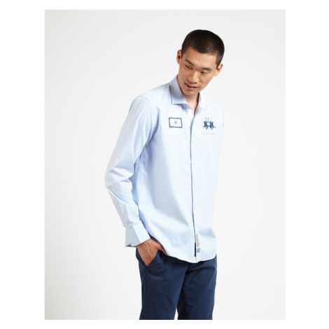 Košeľa La Martina Man L/S Shirt Oxford Stream Ox