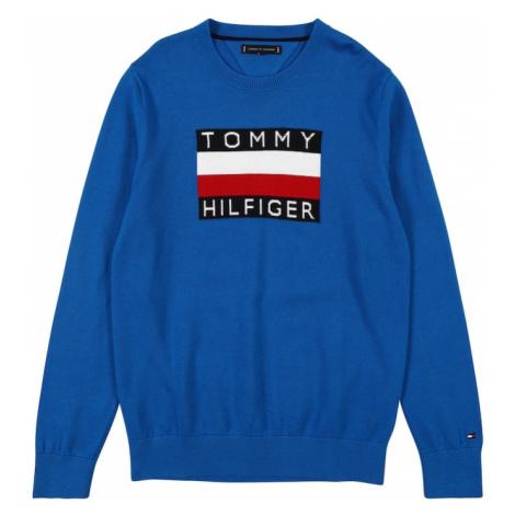 TOMMY HILFIGER Mikina  kráľovská modrá / červená / tmavomodrá / biela