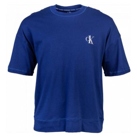 Calvin Klein S/S CREW NECK tmavo modrá - Pánske tričko