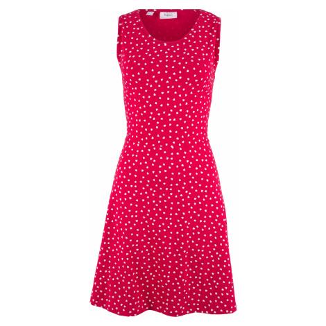 Úpletové šaty so srdiečkami bonprix