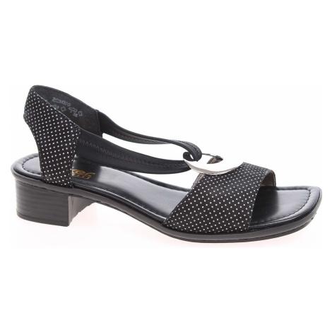Dámské sandály Rieker 62662-02 schwarz 62662-02