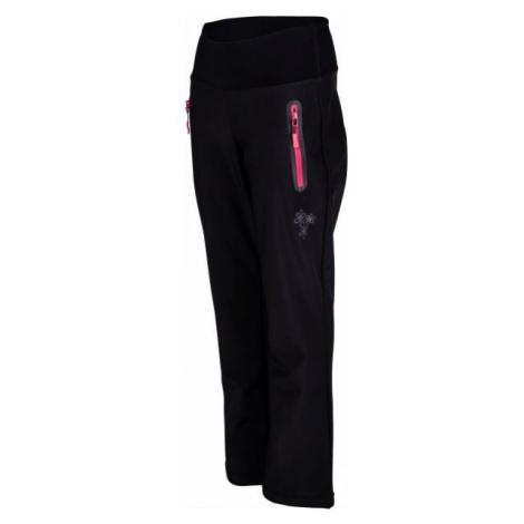Lewro ALINA čierna - Dievčenské softshellové nohavice