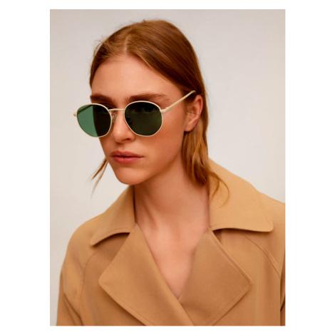 Béžové slnečné okuliare Mango Alexis