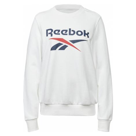 REEBOK Športová mikina  biela / tmavomodrá / červená