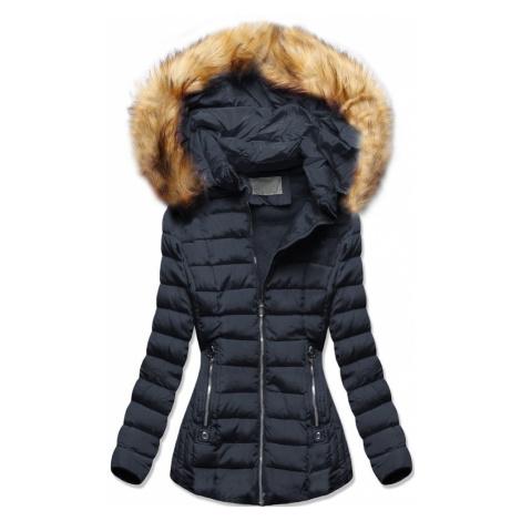 MODOVO Zimná bunda s kapucňou tmavomodrá