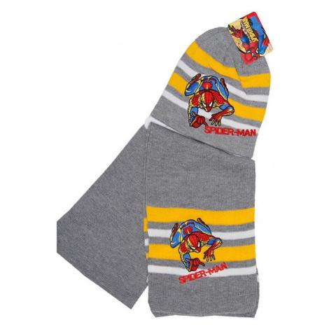 Spider-man sivý chlapčenský set čiapka + šál