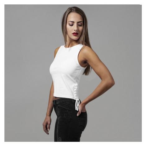 Urban Classics Ladies Lace Up Cropped Top white - Veľkosť:XS