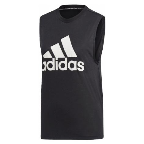 ADIDAS PERFORMANCE Športový top  biela / čierna