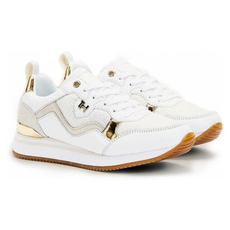 Tommy Hilfiger biele tenisky Feminine Active City Sneaker White/Light Gold