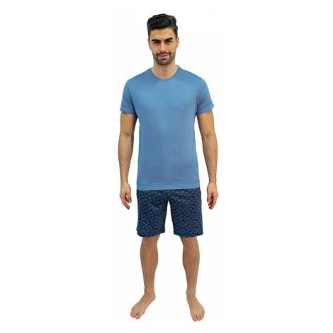 Pánske pyžamo Jockey modré nadrozmer (500001 454)