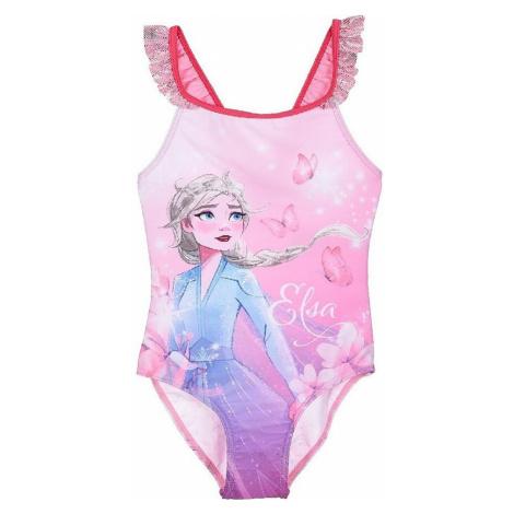 Ružové dievčenské plavky frozen