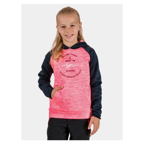 Ružová dievčenská mikina SAM 73