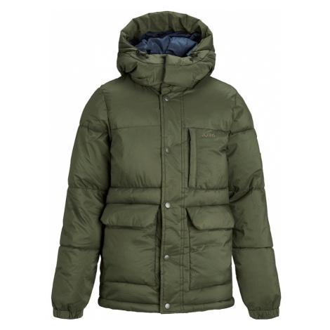 Jack & Jones Junior Zimná bunda  tmavozelená