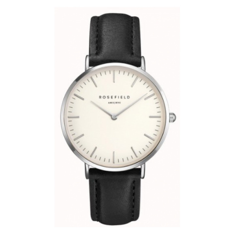 ROSEFIELD THE BOWERY SILVER WHITE - BLACK / 38MM BWBLS-B2