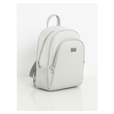Light gray eco-leather backpack