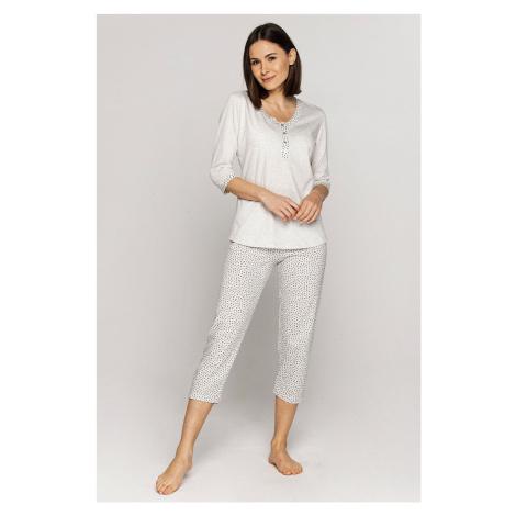 Dámske pyžamo CANA 552 MM Světle béžová