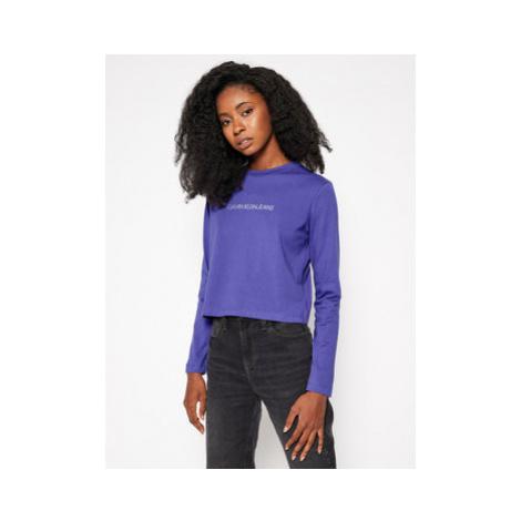 Calvin Klein Jeans Tričko Logo J20J214790 Fialová Slim Fit