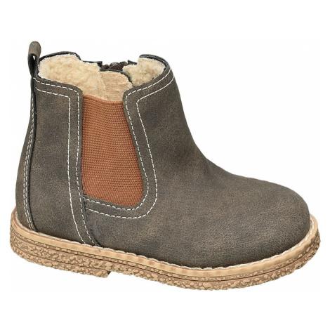 Bobbi-Shoes - Sivohnedá členková obuv na zips Bobbi Shoes