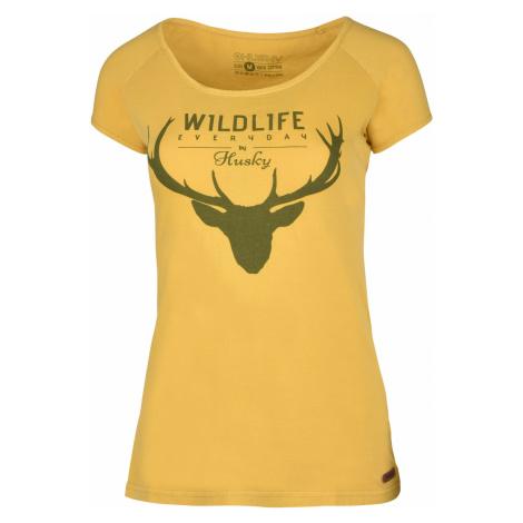 Husky Deer krémovo žltá, Dámske tričko