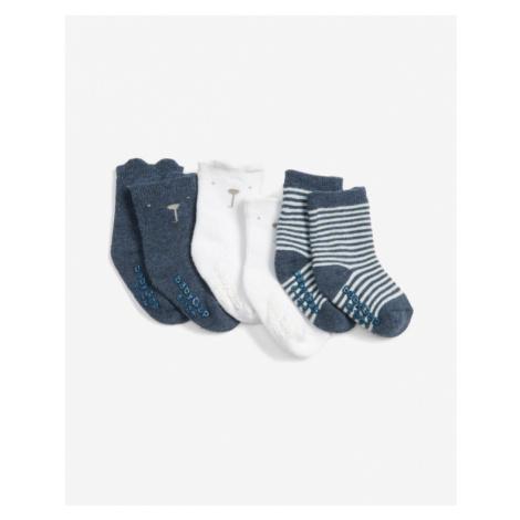 GAP Ponožky 3 páry detské Modrá Biela