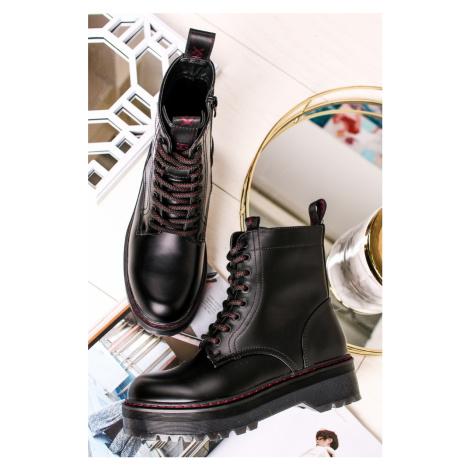 Čierne členkové topánky 44397 Xti